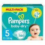 Baby Dry Luiers Maat 5 (11-16 kg) 144 stuks
