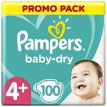 Luiers Baby Dry Maat 4+ (10-15 kg) 100 Stuks