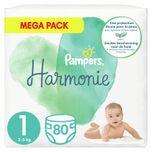 2x Harmonie Luiers Maat 1 (2-5kg) 80 stuks