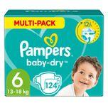 Baby Dry Luiers Maat 6 (13-18 kg) 124 stuks