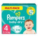 Baby Dry Luiers Maat 4 (9-14 kg) 174 stuks