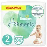 2x Harmonie Luiers Maat 2 (4-8kg) 86 stuks