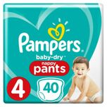 Baby Dry Luierbroekjes Maat 4 (9-15 kg) 40 stuks