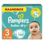 Baby Dry Luiers Maat 3 (6-10 kg) 198 stuks