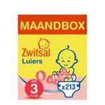 Luiers Midi Maat 3 Maandbox 213 stuks