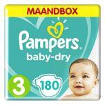 Baby Dry Luiers Maat 3 (6-10 kg) 180 stuks