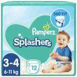3x Splashers Zwemluiers Maat 3-4 (6-11 kg) 12 stuks