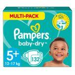 Baby Dry Luiers Maat 5+ (12-17 kg) 132 stuks