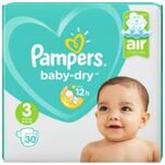 4x Baby Dry Luiers Maat 3 (6-10 Kg) 30 Stuks
