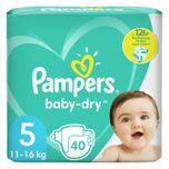 2x Luiers Baby Dry Maat 5 (11kg-16kg) 40 Stuks