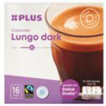 PLUS Koffiecapsules lungo dark fairtrade