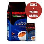 Kimbo koffiebonen Aroma intenso (4x1KG+250GR GRATIS)
