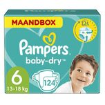 Baby-Dry maandbox maat 6 (13-18kg) 124 luiers