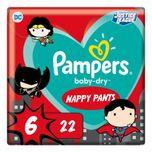 Gratis verzending: Pampers Baby-Dry Superhelden Maat 6 Luierbroekjes