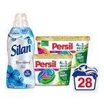Persil Wasmiddelcapsules Color Discs&Silan Wasverzachter Voordeel Pakket