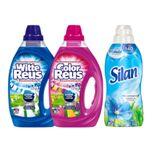 Witte + Color Reus Wasmiddel&Silan Wasverzachter Voordeel Pakket