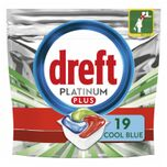 Platinum Plus All In One Vaatwastabletten Cool Blue 19 stuks