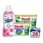 Persil Wasmiddelcapsules Color + Universal Discs&Silan Wasverzachter Voordeel Pakket