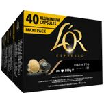 Espresso Capsules Ristretto - 4 x 40 cups - voordeelpak - 160 koffiecups