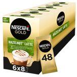 Hazelnoot Latte oploskoffie - 6 doosjes à 8 zakjes