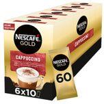 Cappuccino oploskoffie - ongezoet - 6 doosjes à 10 zakjes