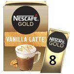 Gold Latte Vanille oploskoffie - 6 doosjes à 8 zakjes