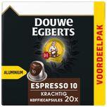 Koffiecups - voordeelpak 20 aluminium capsules - Espresso Krachtig 10