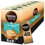 Gold Flat White oploskoffie - 6 doosjes à 8 zakjes