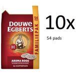 Aroma Rood Koffiepads - Multipak - 10 x 54 pads