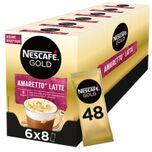 Amaretto Latte oploskoffie - 6 doosjes à 8 zakjes