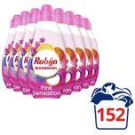Klein & Krachtig Color Pink Sensation Vloeibaar Wasmiddel - 8 x 19 wasbeurten - Voordeelverpakking