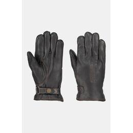 Deerskin Lamb Fur Lined Handschoen Zwart