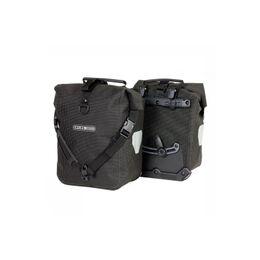 Front Roller High Visibility Fietstas (Paar) Zwart