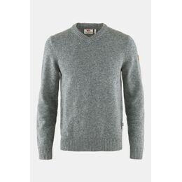 Övik V-neck Sweater Trui Lichtgrijs Mengeling