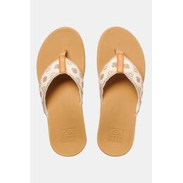 Ortho Bounce Woven Dames Slippers Bruin/Wit