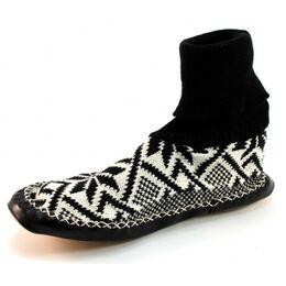 Heren pantoffels noors patroon Zwart LIT33
