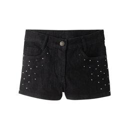 Jeans short met glittersteentjes