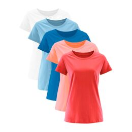 Longshirt met ronde hals (set van 5)
