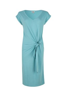 Jurk Solid Knot Jersey turquoise maat: XXL / 44