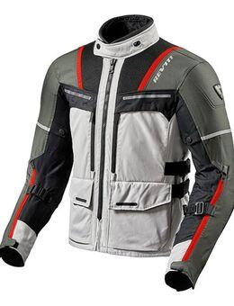 Offtrack Jacket, Textiel motorjas heren, Zilver-Rood