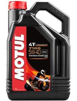 5W-40 synthetisch 7100, Motorolie 4T, 4 liter