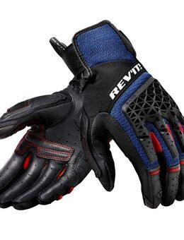 Sand 4 Gloves, Motorhandschoenen zomer, Zwart Blauw