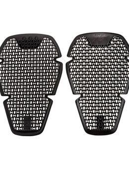 Knieprotectorset Bio-Flex, Losse protectoren voor in motorfietskledij, L (26 x 16,5 cm)