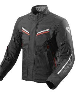 Vapor 2 jacket, Textiel motorjas heren, Zwart Rood