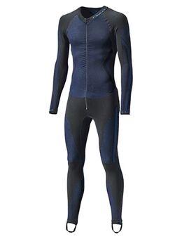Race Skin II, Thermopak voor op de moto, Zwart-Blauw