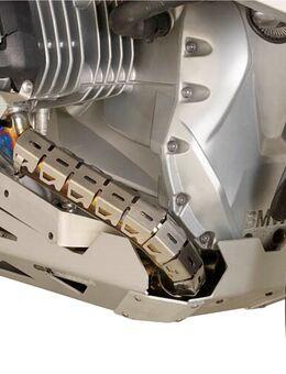 Uitlaatbocht protectie inox universeel, Motoruitlaatbocht bescherming, S282 52-60