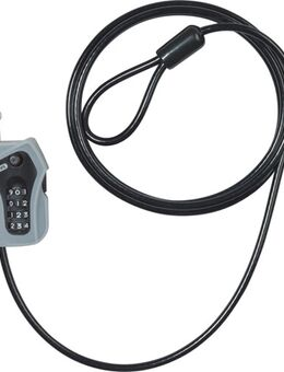 205/200 Combiloop black, Kabelslot voor de moto, 5 mm / 185 cm