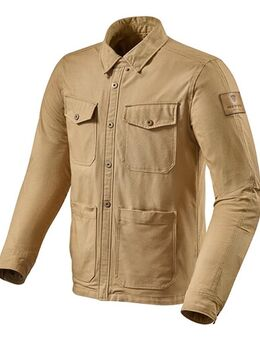 Worker Overshirt, Textiel motorjas heren, Zand