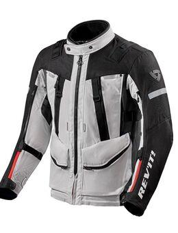 Sand 4 H2O Jacket, Textiel motorjas heren, Zilver Zwart