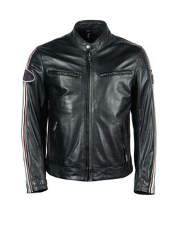 Race Leather Aniline Black Jacket S